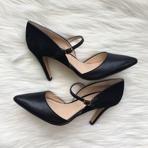 Banana Republic Leather & Suede Heels Size 8.5